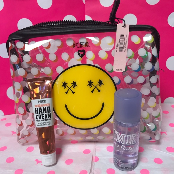 PINK Handbags - PINK Poolside Clear Pouch, Mist & Lotion Set